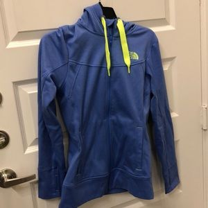 North face fleece lined hoodie